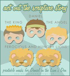 Daniel in the Lion's Den Printable Masks   Mormon Mommy Blogs