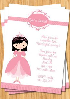 Asian Princess Birthday Party Invitation - Customizable. $14.99, via Etsy.