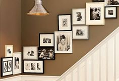 photo frame ideas for stairs