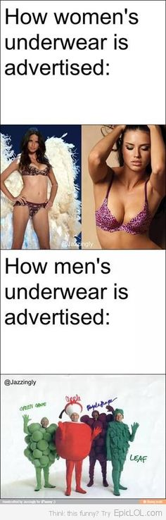 Underwear: Men vs. Women