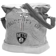 NBA Brooklyn Nets Hoodie Duffel Bag Gray * You can get more details by clicking on the image.