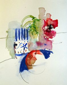 Breaking the Rules of Watercolour with Shirley Trevena DVD #watercolor #loose #still #blue #red
