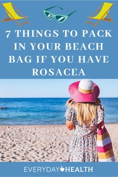 If you're hitting the beach with rosacea learn how to keep your skin safe.