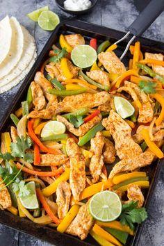 Sheet Pan Chicken Fajitas | Simple Healthy Kitchen