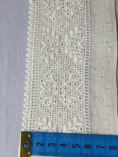 Hardanger Embroidery, Embroidery Stitches, Linens And Lace, Needlework, Patches, Handmade, Knit Crochet, Straight Stitch, Hemline