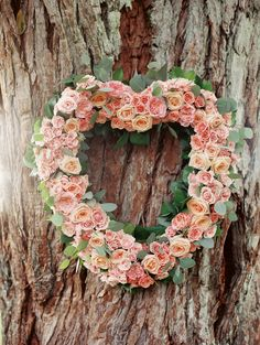 #heart, #pink, #wreath, #roses  Photography: Ashley Goodwin Photography - www.AshleyGoodwinPhotography.com Floral Design: Passion Roots - www.passionroots.com