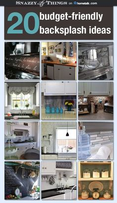 20 Budget Friendly Backsplash Ideas - Board curated for Hometalk.com by SnazzyLittleThings.com