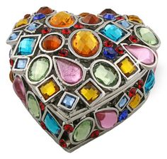 Objet dart Release No247 Coeur de Bijoux Jeweled Heart Handmade Jeweled Metal Trinket Box * Details can be found by clicking on the image.