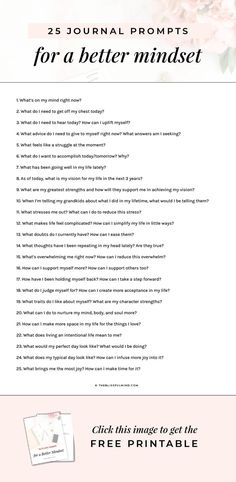 25 Journal Prompts for Self Discovery Tired of dealing with a restless mind? Get 25 journaling prompts to clear your head and improve your mindset on a daily basis (even if you don't know what to write about). Bullet Journal Ideas Pages, My Journal, Journal Topics, Nature Journal, Gratitude Journal Prompts, Gratitude Quotes, What To Write About, Things To Write About, Journal Questions