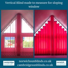 Go Vertical These Are Blinds That We Made For A Property In Cambridge Specialise Unusual Sized Windows Domestic And Commercial