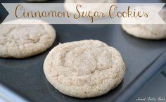 Cinnamon Sugar Cookies- the nostalgia of a Snickerdoodle with the soft vanilla flavor of a sugar cookie. sweetbellaroos.com #recipe #cookies