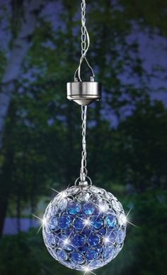 Solar Hanging Pendant Ball Outdoor Accent Light