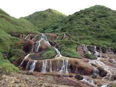 金瓜石黃金瀑布 Taiwan Travel, Waterfall, Mountain, Nature, Outdoor, Outdoors, Naturaleza, Waterfalls, Outdoor Games