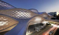 The King Abdullah Financial Disctrict Metro Station, Riyadh, Saudi Arabia - Zaha Hadid Architects