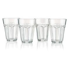 Artland Pearl Ridge Tumbler Glasses - Set of 4 - 30001A