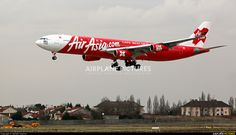 AirAsia X (Malaysia) Airbus A340-313 (registered 9M-XAB) landing at Paris-Orly