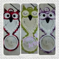 Crochet Owls, Owl Patterns, Crochet Stitches Patterns, Amigurumi Patterns, Crochet Designs, Crochet Doilies, Diy Crafts For Gifts, Yarn Crafts, Crochet Towel Holders
