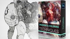 This tutorial by Marc Brunet explains his process of creating a clean line drawing first, and then the techniques to color it. Everything is done in Photoshop, any version work as do most other painting software supporting layers.  -7 Chapters (2h40 – 1080p resolution)