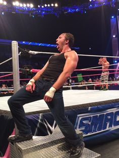 Dean Ambrose and John Cena!!! #SMACKDOWN love them both.