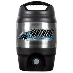 NFL 1 Gallon Tailgate Keg  http://allstarsportsfan.com/product/nfl-1-gallon-tailgate-keg/?attribute_pa_teamname=carolina-panthers  Decorated with a high quality metal team logo A great tailgating item Handcrafted high-quality metal logo