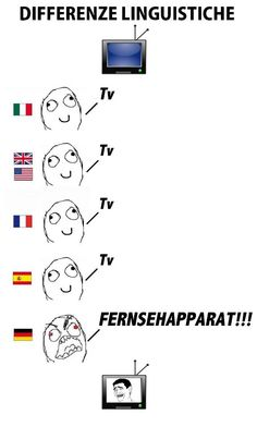 """Oh, well... Even some German people do call it """"TV""""..."""