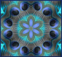 Peacock Feather Kaleidoscope by glenasena.*  To the wall gallery!