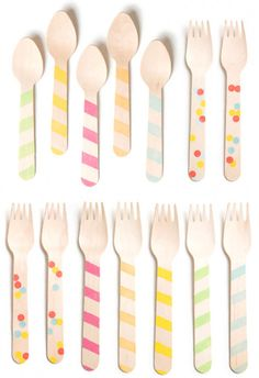decorate wooden cutlery