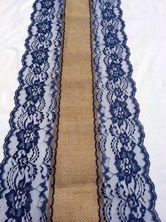 12ft Burlap Table Runner Wedding Table Runner by LovelyLaceDesigns