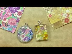 【UVレジン 100均】折り紙しみない様に両面テープ利用してみました! 【初心者】resin Using Origami - YouTube Paper Jewelry, Resin Jewelry, Jewelry Crafts, Uv Resin, Resin Art, Origami, Felt Bracelet, Abstract Painting Techniques, Polymer Clay Embroidery
