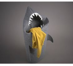 Shark laundry hamper.