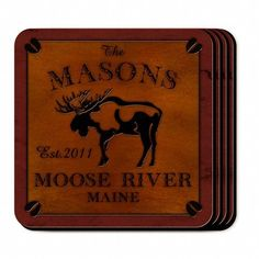 Personalized Cabin Series Coaster Set - Moose Coaster Set by JDS JDS http://www.amazon.com/dp/B01C85KGI0/ref=cm_sw_r_pi_dp_Vrd4wb0TF8S76