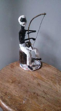Como fazer escultura de canudo de papel Paper Dolls, Art Dolls, Paper Mache Clay, African Dolls, Indian Art, Black Art, Newspaper, Contemporary Art, Weaving