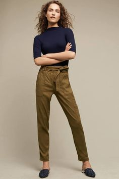 Elevenses Paperbag-Waisted Joggers
