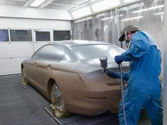 bmw 6 series coupe foiled clay model painting bmw office paintersjpg
