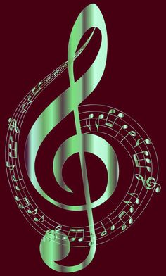 Music Notes & Treble Clef..