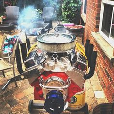 Fancy - V8 Engine Bbq Grill by Hot Rod Grills