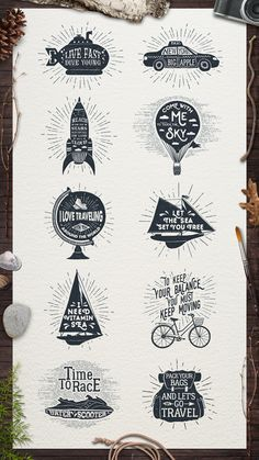ADVENTURE VINTAGE BADGES (part 2) by Cosmic Store on @creativemarket