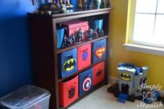 Xander's Superhero Theme room Reveal: http://stavishclan.com/2012/01/xanders-superhero-theme-room-reveal.html