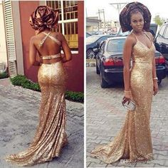 Champagne Halter Long Evening Gowns Sequins 2017 V Neck Prom Dresses Sexy Backless Sweep Train Formal Bridesmaid Dresses Custom Made Evening Dress Size 20 Evening Dresses For Juniors From Faithfully, $110.56  Dhgate.Com