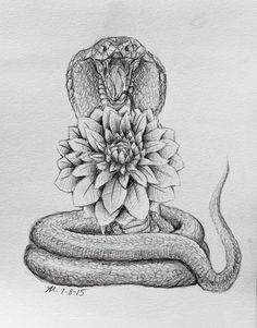 Dahlia and Cobra tattoo design by MoPotter on DeviantArt