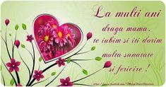La multi ani draga mama te iubim si iti dorim multa sanatate si fericire !