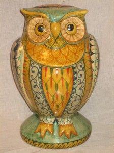 animali in ceramica,gufi in ceramica