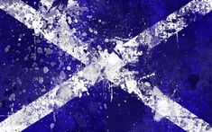Scottish Flag Wallpaper Pack by GaryckArntzen on DeviantArt Scotland Wallpaper, Castle Fraser, Flag Of Scotland, Facebook Cover Images, Flag Painting, Grunge Art, Flag Art, Paint Splash, Celtic Art