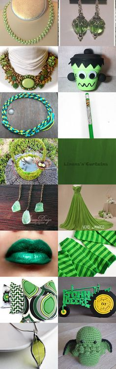 Lovely Greens by Jo Stamatakis on Etsy--Pinned with TreasuryPin.com #septembertrends