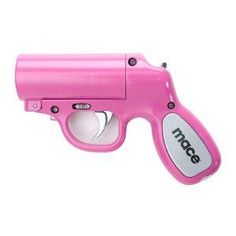The Mace Pepper Gun is the most accurate non-lethal self defense spray available. Expiration: Pepper spray has a shelf life of 4 years from date of manufacture. Each pepper spray unit is labeled with an expiration date. Pink Guns, Girly Things, Good Things, Awesome Things, Crazy Things, Lovely Things, Awesome Stuff, Hot Pink, Tout Rose