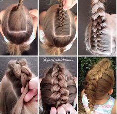 Braid Styles for Long Hair – Lavish Braids Little Girl Hairstyles, Up Hairstyles, Pretty Hairstyles, Braided Hairstyles, Faux Hawk Hairstyles, Coiffure Hair, Natural Hair Styles, Short Hair Styles, Crazy Hair