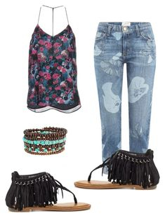 """""""Nature hippie"""" by xolafkax on Polyvore featuring Haute Hippie, Current/Elliott and Not Rated"""