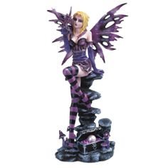 Fairy and Dragon Treasure Statue - 05-91512 by Medieval Collectibles