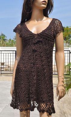 Crochet cover-up, make longer