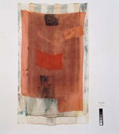"gibsondeis: Robert Rauschenberg, ""Untitled (Hoarfrost),"" 1974, solvent transfer on fabric with paper bags and fabric collage"